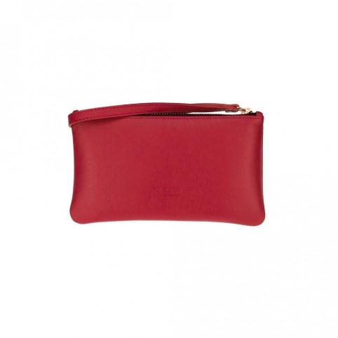 Bolsa pequeña de mano de color rojo