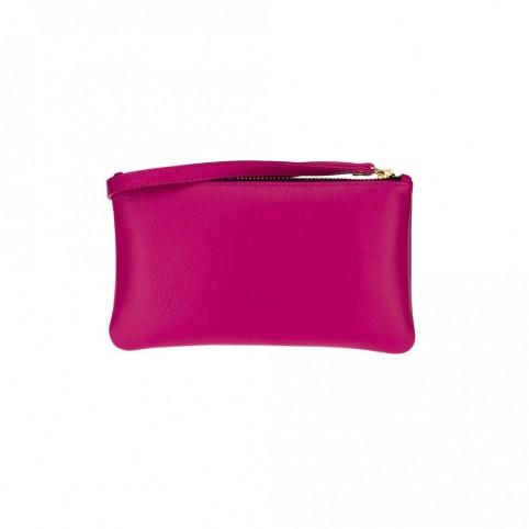 Bolsa pequeña de mano de color fucsia