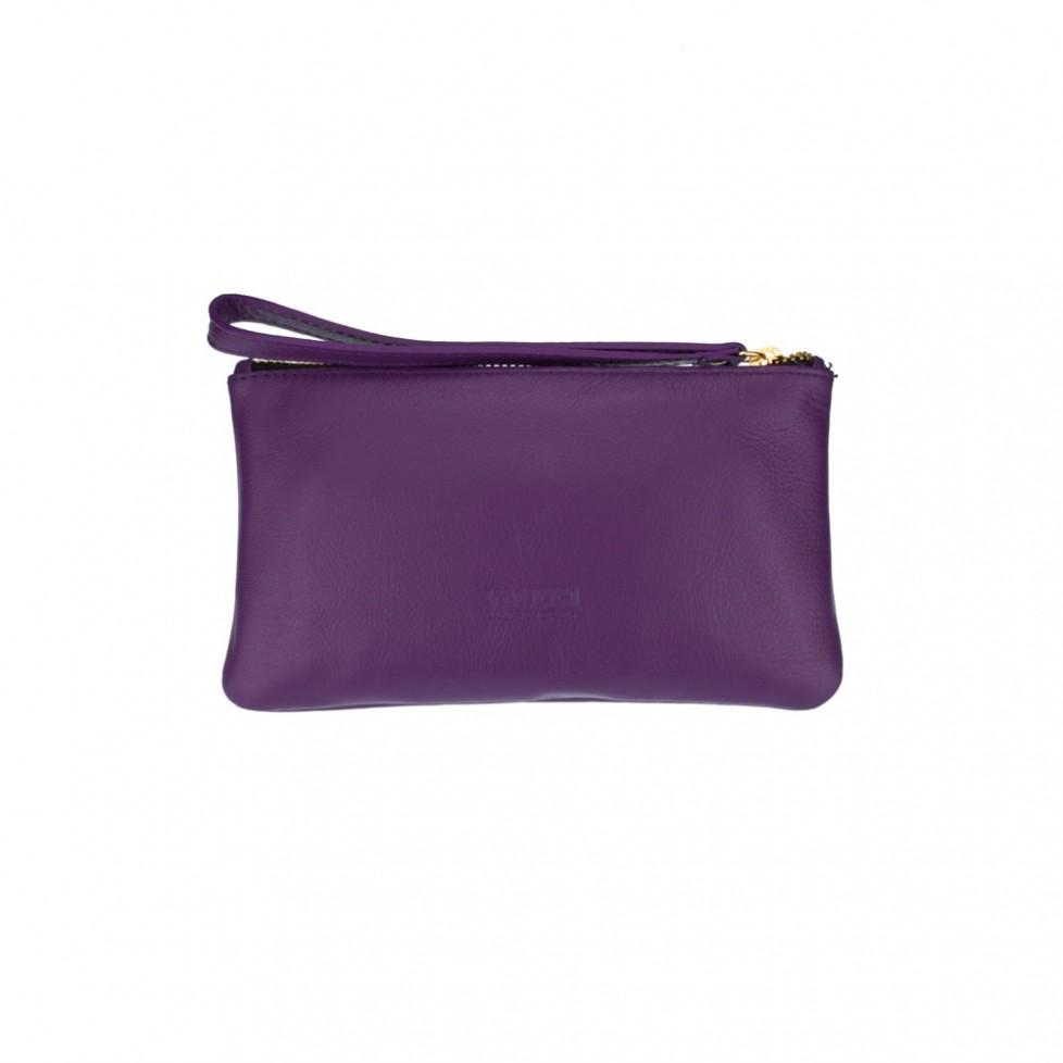 Bolsa pequeña de mano de color violeta