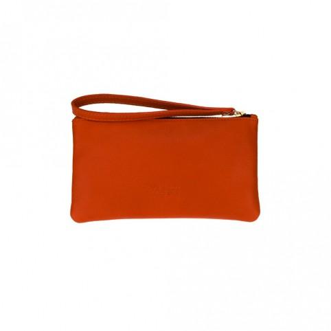 Bolsa pequeña de mano de color naranja