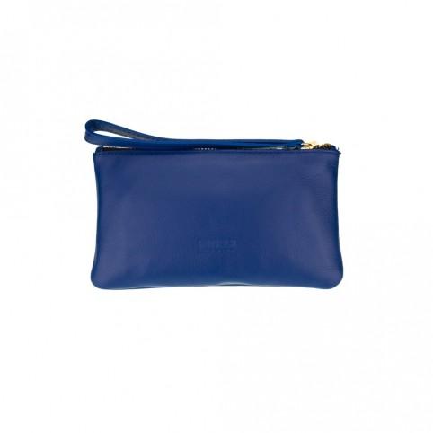 Bolsa pequeña de mano de color azul