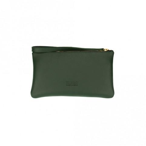 Bolsa pequeña de mano de color verde