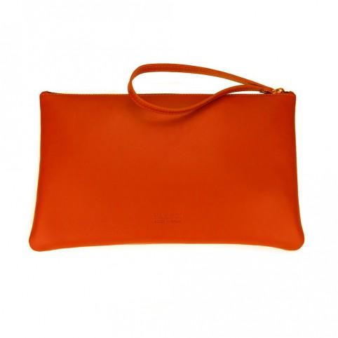 Bolsa grande de mano de color naranja