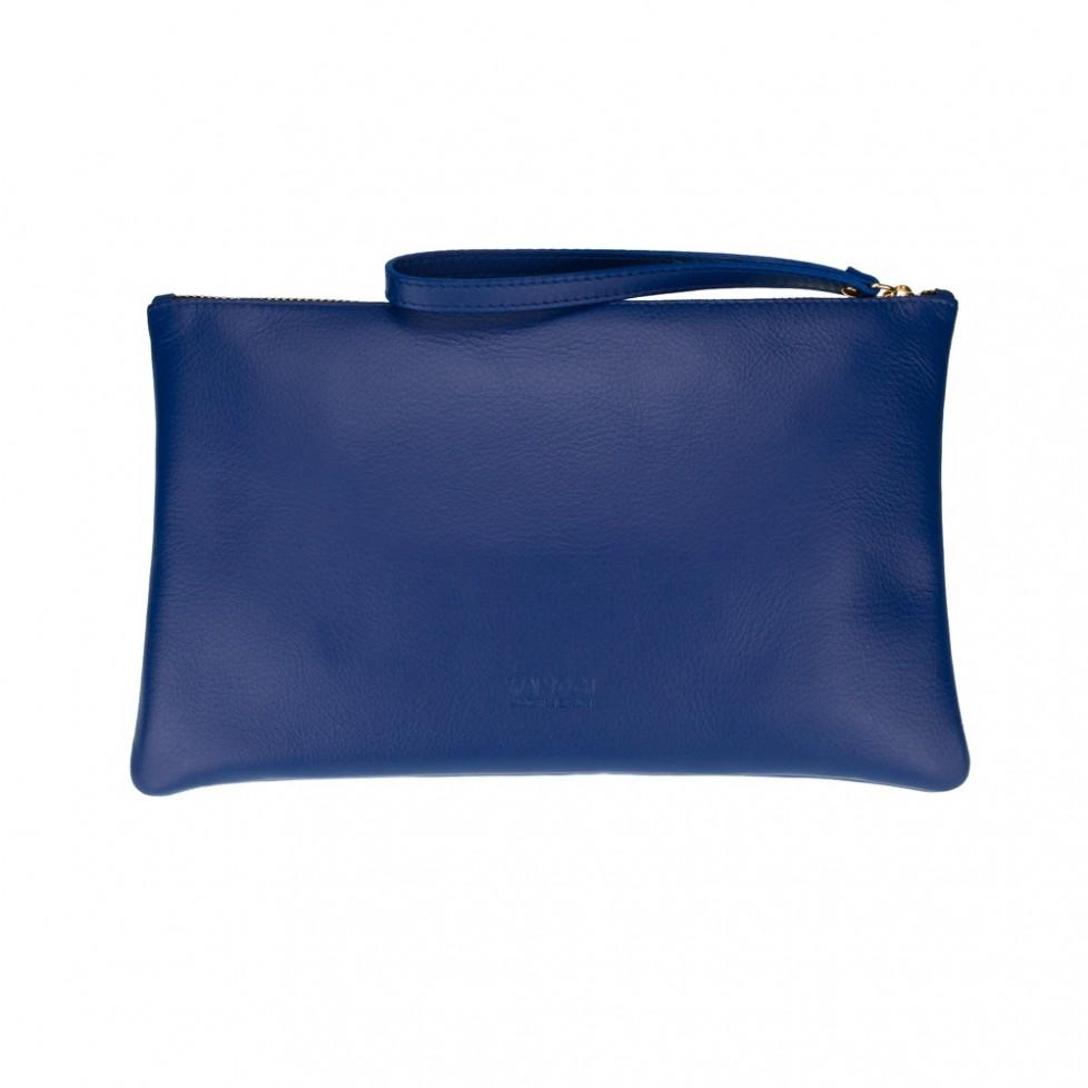 Bolsa grande de mano de color azul
