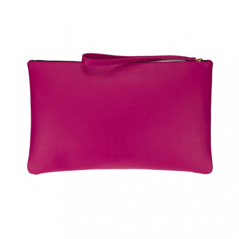 Bolsa grande de mano de color fucsia