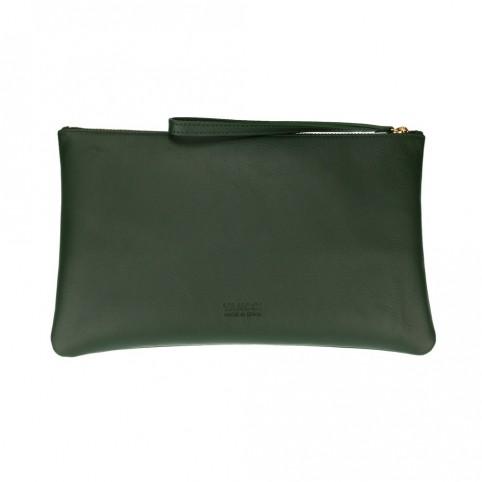 Bolsa grande de mano de color verde