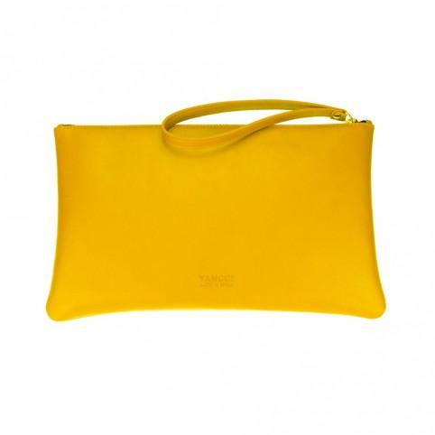 Bolsa grande de mano de color amarillo