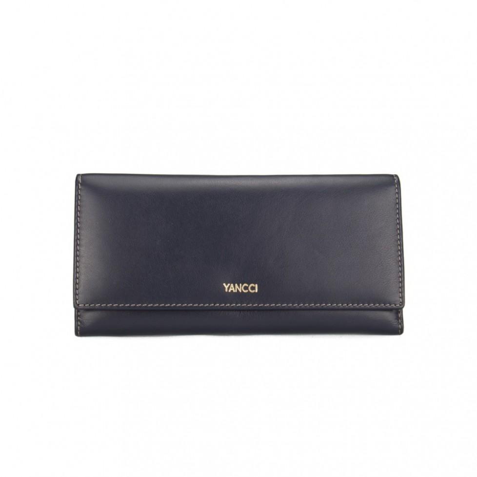 Monedero billetero señora marca Yancci, de color azul