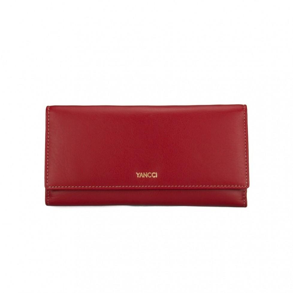 Monedero billetero señora marca Yancci, de color rojo